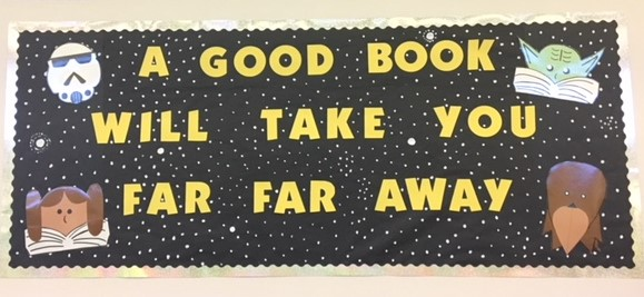 Last year's library bulletin board