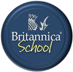 Button that links to Britannica School Online Encyclopedia.