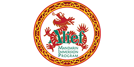 Alief ISD logo with dragon