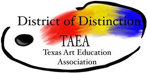 Texas Art Education Association District of Distinction logo