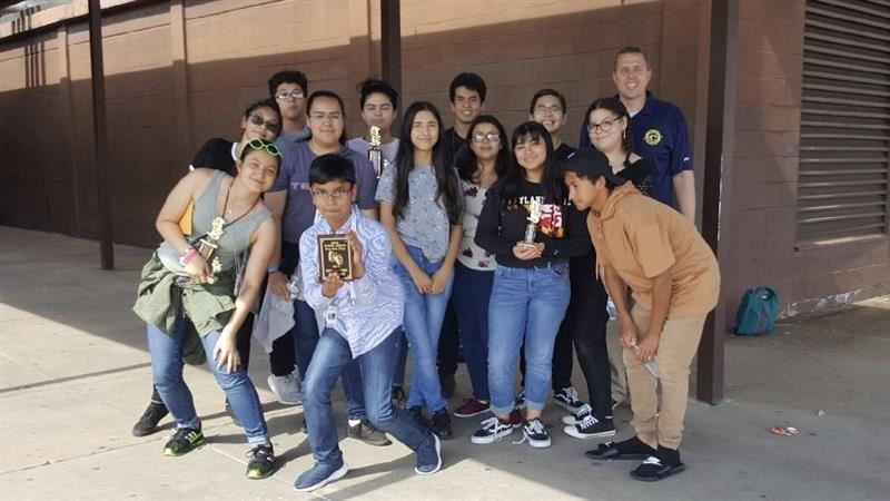 "AMS Wins ""Outstanding Ensemble""  at the district One Act Play Festival on May 5, 2018"