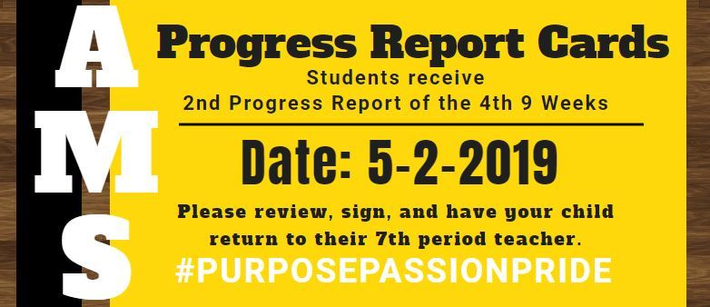 Progress Report Cards (2nd Report of the 4th weeks) - May 5th