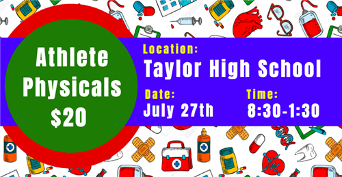 Get your Athletic Physicals