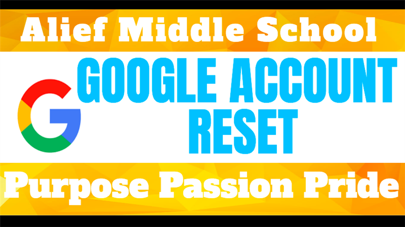 Click to reset your Google account