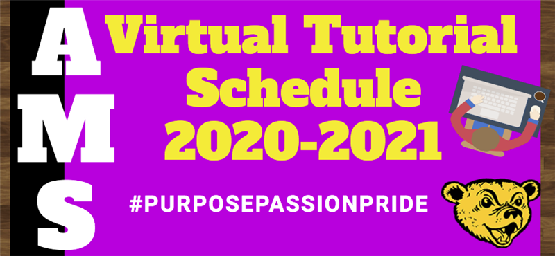 AMS Teacher Virtual Tutorial Times 20-21