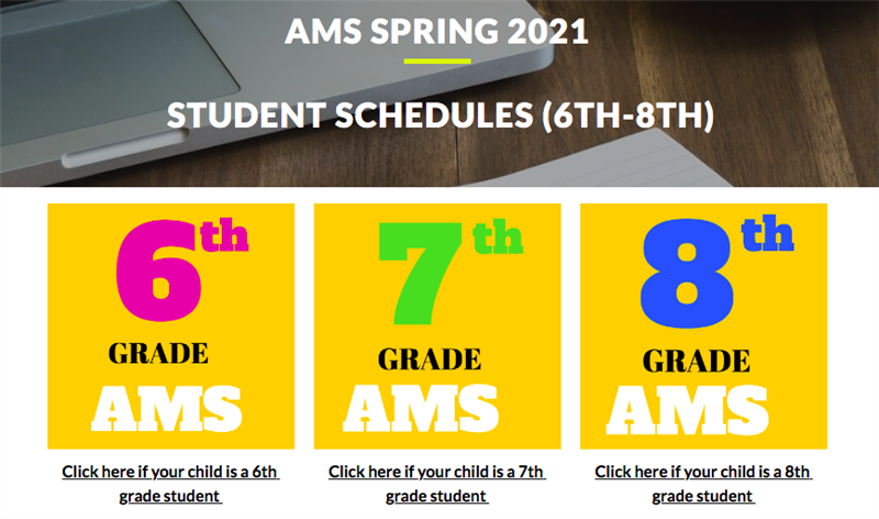 AMS Spring 2021  Student Academic Schedules