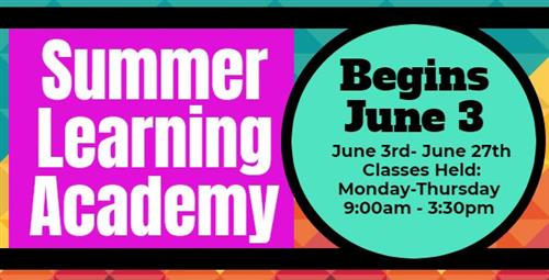Summer Learning Academy Information