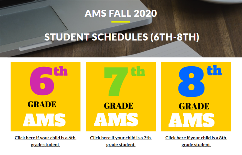 AMS 2020  Student Academic Schedules