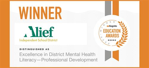 Alief ISD Mental Health Winner!