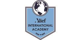 Alief International Academy logo with globe