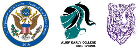 USDE National Blue Ribbon School logo with Kerr and AECHS logos