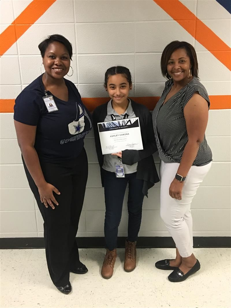 Ashley Corona is the Alief STEM student of the month November 2017