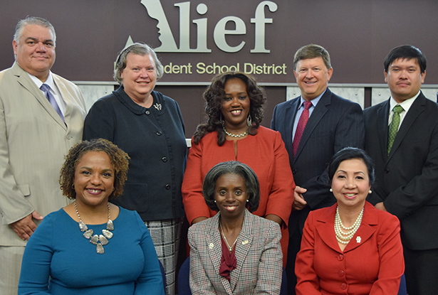 Alief ISD School Board with Superintendent HD Chambers