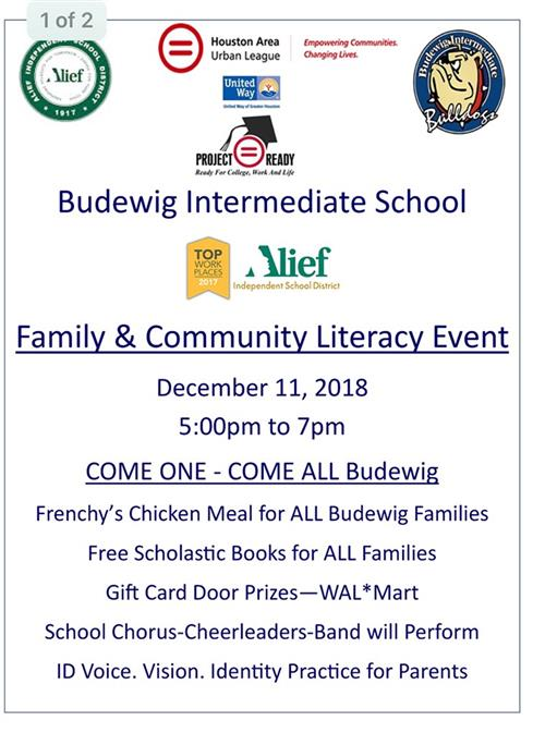Family and Community Literacy Event