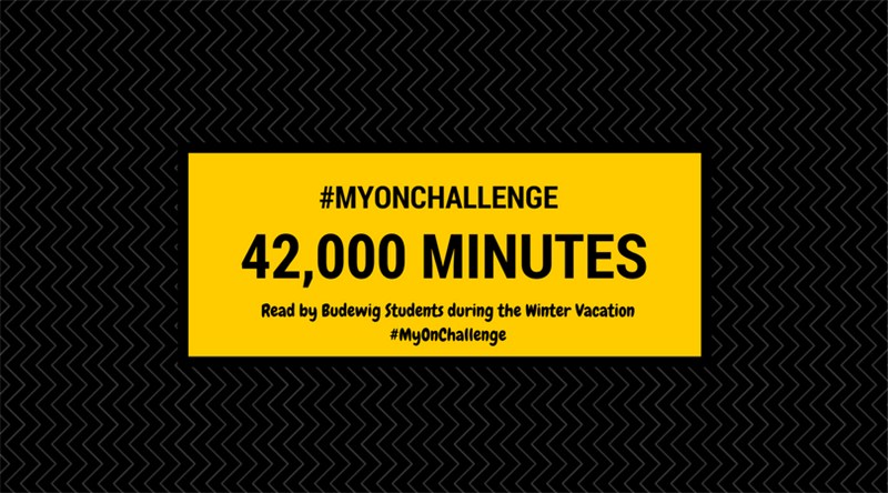 Students read 42,000 Minutes During Winter Vacation!