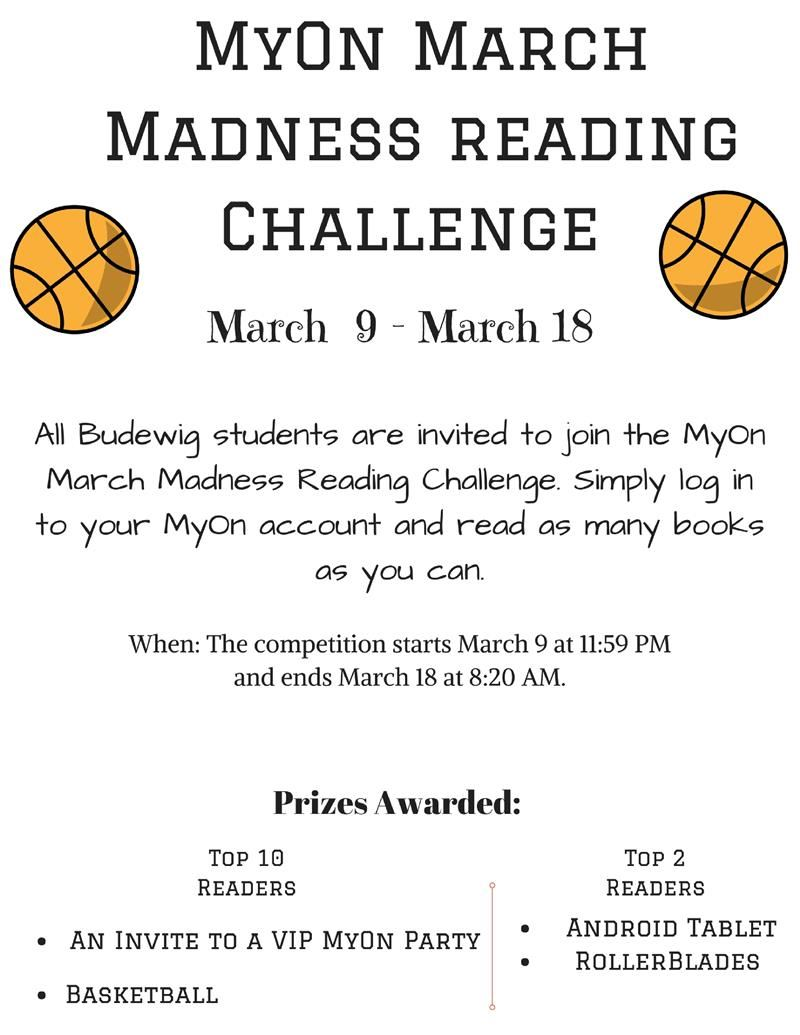 MyOn March Madness Reading Challenge