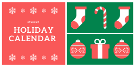 Student Holiday Calendar