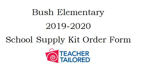 Click here to download the forms to order your School Supplies.