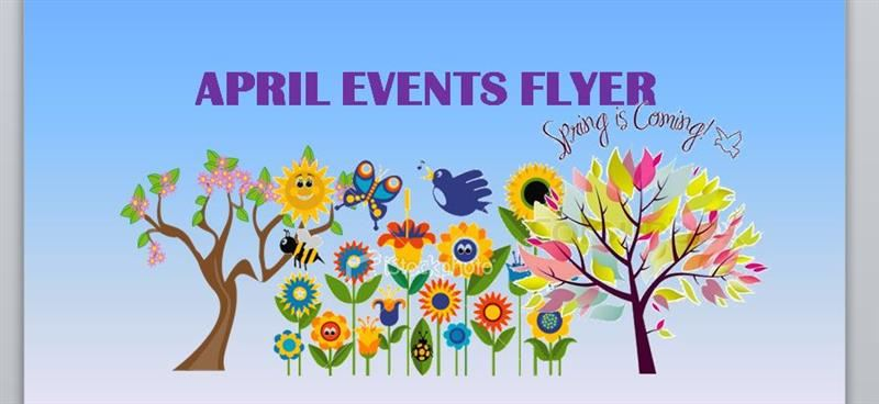 April Events at Bush Elementary Flyer