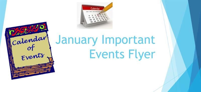 January Important Events Flyer