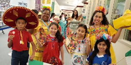 Celebrating our culture during the Multicultural Parade.  Shown here: Mexico.