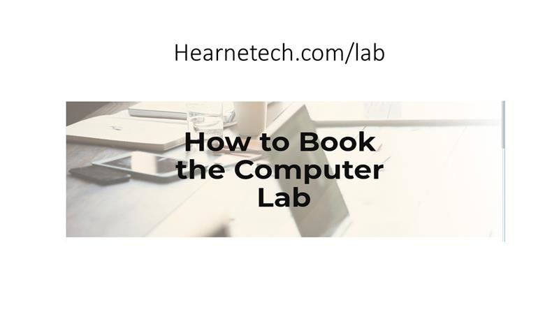 computer lab booking link
