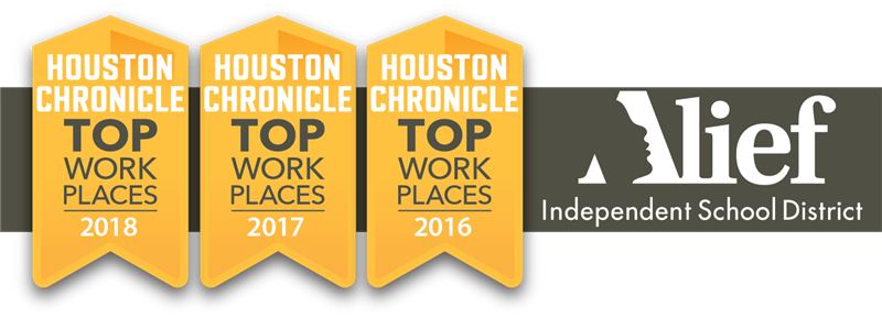 Alief ISD named one of Houston's Top Workplaces by Houston Chronicle for the third year in a row.