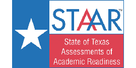 STAAR Logo in Texas flag