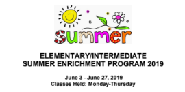 Alief ISD Summer Enrichment Program