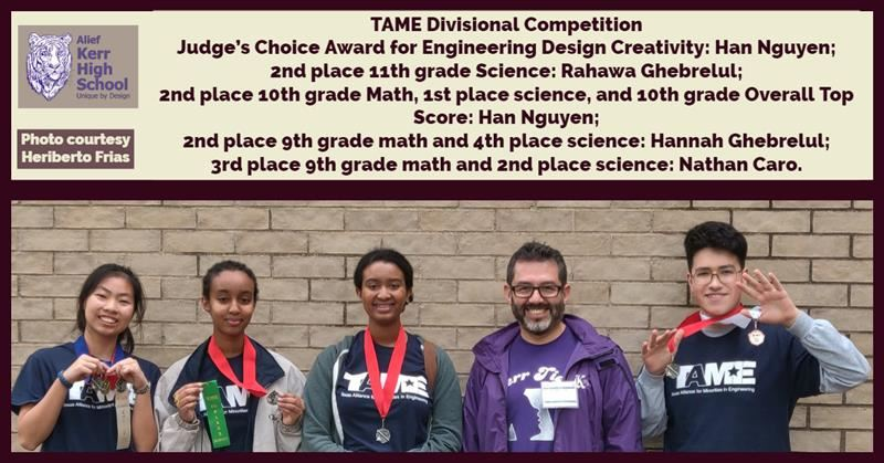Student Competitors at TAME