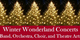 Christmas Trees banner announcing Winter Wonderland concerts
