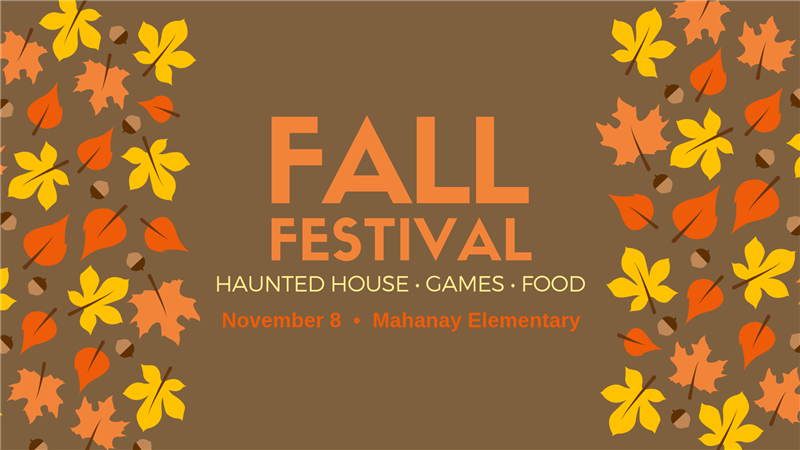 Save the Date for the Fall Festival