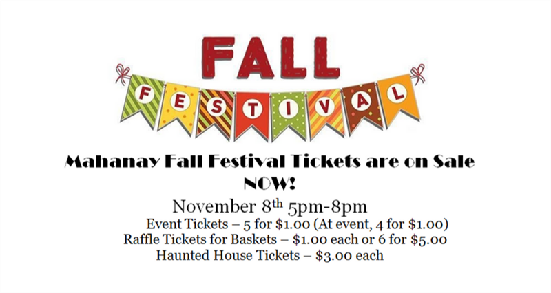 Fall Festival Tickets are On Sale Now!
