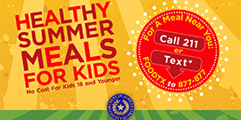 Graphic stating healthy summer meals for kids