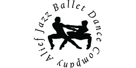Alief Jazz Ballet Dance Company logo with two dancers