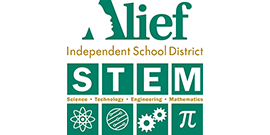 Alief ISD Science Technology Engineering and Math logo