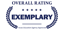 Graphic of Texas Education Agency-recognized exemplary rating