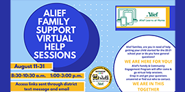 Alief Family Support Virtual Help Sessions information in English