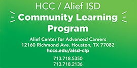 HCC Alief Community Learning Program at the Career Center 7137185350 7137182136 Waivers Scholarships