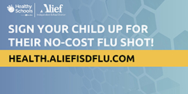 In-School Flu Shots for $0 Copay banner