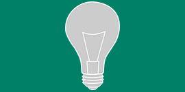 Graphic depicting a lightbulb