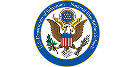 Graphic of the National Blue Ribbon Schools logo from the United States Department of Education