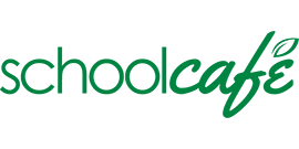School Cafe logo with leaf