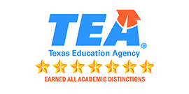Graphic with TEA logo and stars for distinctions