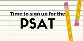 Time to sign up for the PSAT with pencils