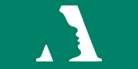 Alief logo - face in letter A