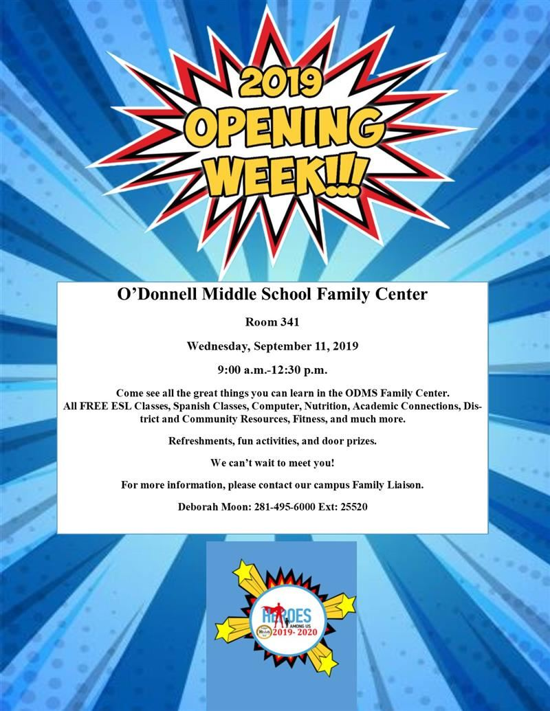 FAMILY CENTER OPENING WEEK 2019