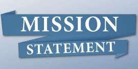 Picture with the words mission statement