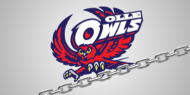 Olle Owl logo with links of a chain in claw