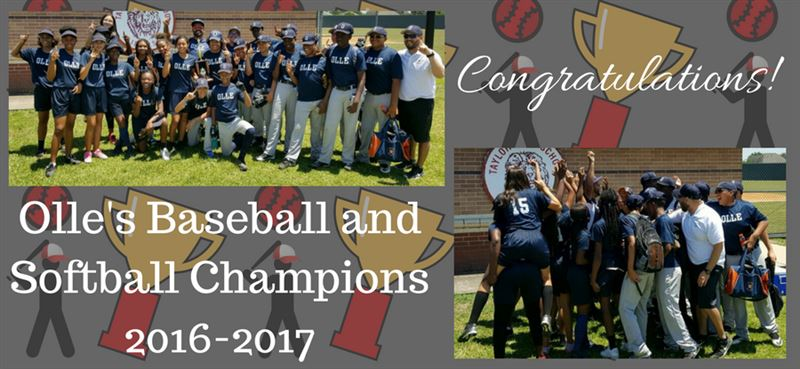 Olle Baseball and Softball Champions 2016-2017 Team Picture